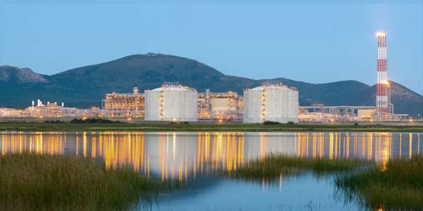 Liquefied Natural Gas export plant, Sakhalin Island, Russia